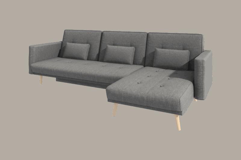 Utrolig Vendbar chaiselong sofa med sovefunktion og opbevaring TB-04