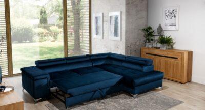 Concept One blå  omdannet til seng