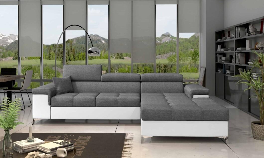 Concep Two - tofarvet   set forfra - grå og hvid